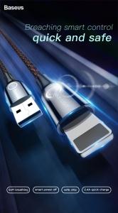 Dây cáp Baseus C-Shaped Light cổng Lightning (tính năng tự ngắt điện)